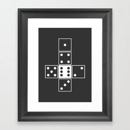 Gray Unrolled D6 Framed Art Print