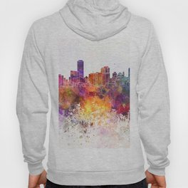 Adelaide skyline in watercolor background Hoody
