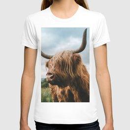 Scottish Highland Cattle - Animal Photography T-shirt