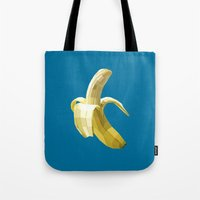 banana Tote Bags featuring Banana by Liam Brazier