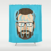 cook Shower Curtains featuring Breaking Bad: Last cook by Monstruonauta