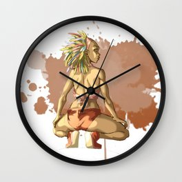 Reggaeton Girl Wall Clock