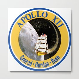 Apollo 12 Patch Metal Print