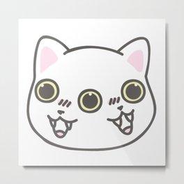 Three Eyed Kitty Metal Print