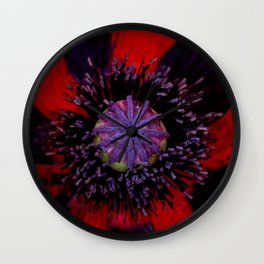 Poppy Heart 3 Wall Clock