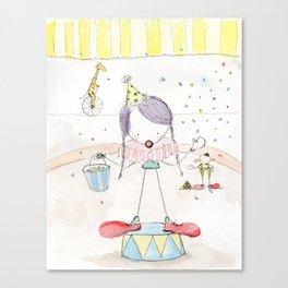 Step Right Up - Confetti Clown Canvas Print