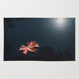 Floating Maple Leaf Rug