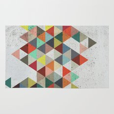 Colorful Triangles On Concrete Rugs