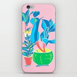 Perky Plants - Pink Blue Multi iPhone Skin