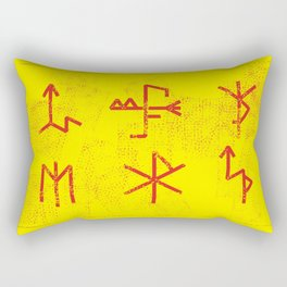 Runes Rectangular Pillow