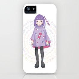 Yumekawa Girl Brain Trick Hen ゆめかわ少女 脳内こじらせ編 iPhone Case