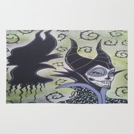 Maleficent Sugar Skull Rug