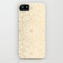 Golden Mandala Background Pattern iPhone Case