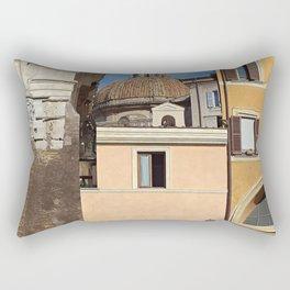 Roman Facades Rome Italy Rectangular Pillow