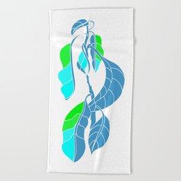 Avocado in Light Blue Beach Towel