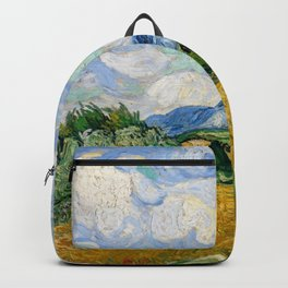 """Vincent van Gogh """"Wheat Field with Cypresses"""" Backpack"""