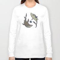 sharks Long Sleeve T-shirts featuring Sharks by Anya McNaughton