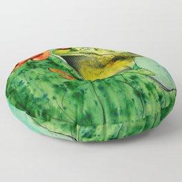Watercolor Tree Frog Floor Pillow