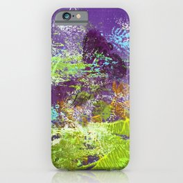 Heron Abstract Painting iPhone Case