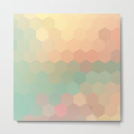 PEACH AND MINT HONEY Metal Print