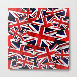 Union Jack British England UK Flag Metal Print