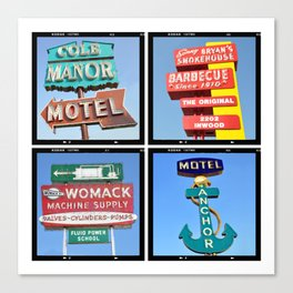 Vintage Signs Composite Series of 4 Canvas Print