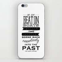 the great gatsby iPhone & iPod Skins featuring The Great Gatsby by Karissa Rush