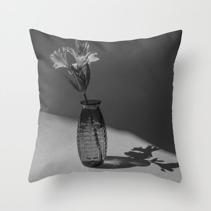 Shadow and flower Throw Pillow