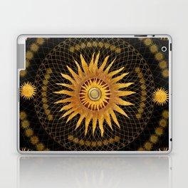 """Black & Gold Vault Mandala"" Laptop & iPad Skin"