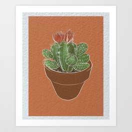 Cactus House Plant Art Print