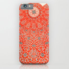 Vintage Red Turkish Pattern iPhone Case