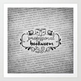 Professional Bookworm Paper Art Print