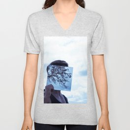 Clouded sky reflection Unisex V-Neck