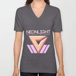 NEONLIGHT (Mock Blank VHS Poster) Unisex V-Neck