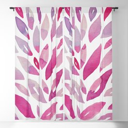 Watercolor floral petals - pink and purple Blackout Curtain