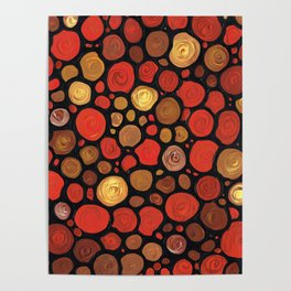 Lovers -Warm Earthy Mosaic Painting by Labor of Love artist Sharon Cummings. Poster