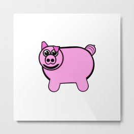 Stuffed Pig Metal Print