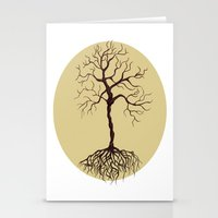 tree of life Stationery Cards featuring life tree by Mihai Paraschiv