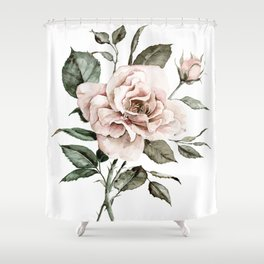 Faded Pink Rose Shower Curtain