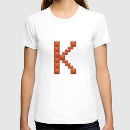 "Letter ""K"" print in beautiful design Fashion Modern Style T-shirt"