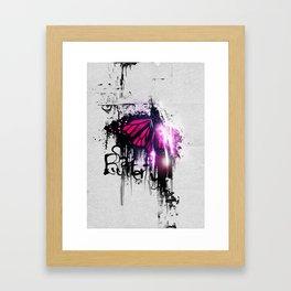 Sad Butterfly Framed Art Print
