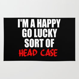 funny sayings and quotes headcase Rug
