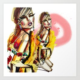 Move like Jagger Art Print