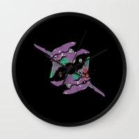 berserk Wall Clocks featuring Duplicity of an Eva by Nick Overman
