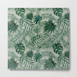 Jungle Leaves pattern Metal Print
