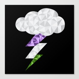 Gender Queer Storm Cloud Canvas Print