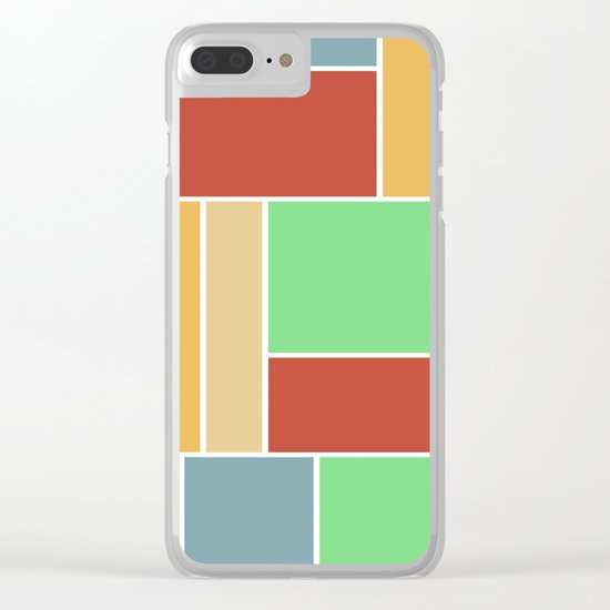 Abstract #347 60's Color Palette Clear iPhone Case