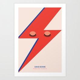 Music Minimals - David Bowie Art Print