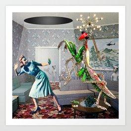 Mantis Encounter Art Print