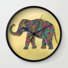 Animal Mosaic - The Elephant Wall Clock